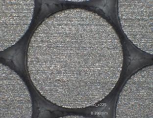 直径1mmの円