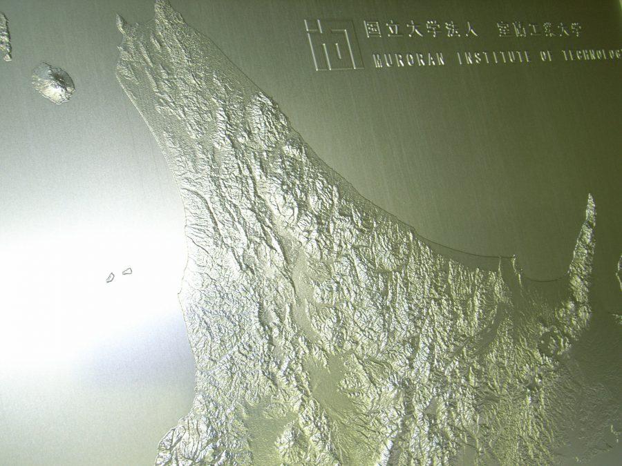 立体地図 1mx1mのアルミ製