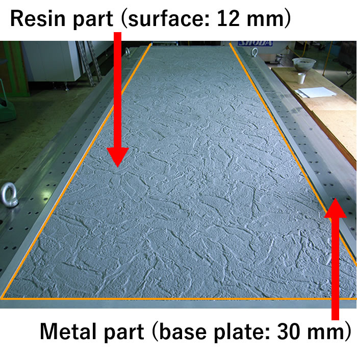 Resin part (surface: 12 mm)